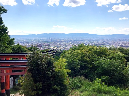 The fox and the Hare - View of Kyoto from Mt Inari