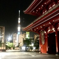 Sensoji & Sky Tree at night